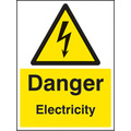Danger Electricity (Self Adhesive Vinyl,100 X 150mm)