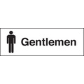 Gentlemen (Rigid Plastic,300 X 100mm)