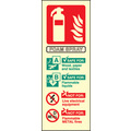 Afff Extinguisher Identification (Self Adhesive Vinyl,200 X 75mm) (21215S)