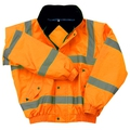 Hi-Vis Orange Bomber Jacket