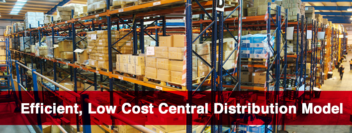Efficient, Low Cost Central Distribution Model