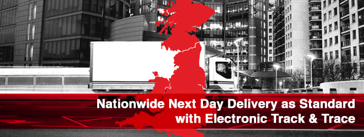 Nationwide Next Day Delivery as Standard with Electonic Track & Trace