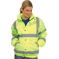 Hi-Vis Saturn Yellow Bomber Jacket - 3XL