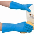 Polyco 945 Blue Flocklined Nitrile Glove - Small