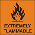 Extremely Flammable (Self Adhesive Vinyl,150 X 150mm)