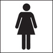 Ladies Wc Symbol (Rigid Plastic,100 X 150mm)